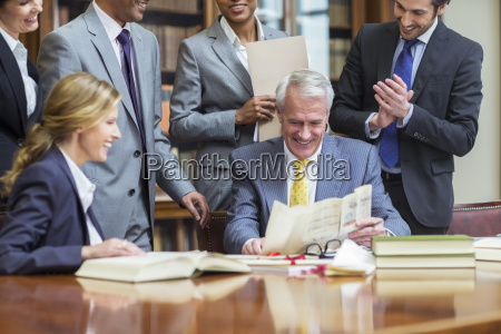lawyers examining documents in chambers