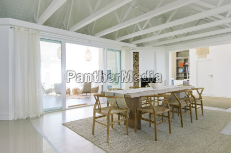 table in luxury dining room
