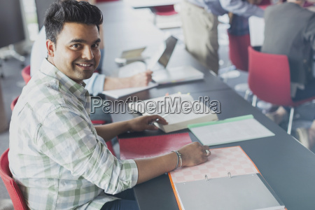 portrait confident student in adult education