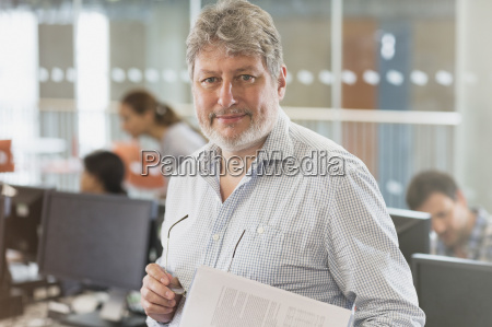 portrait confident man in adult education