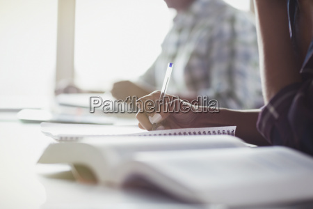 students taking notes in adult education