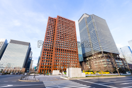 geschaeftsviertel in tokio