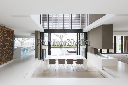 view of spacious dining room during