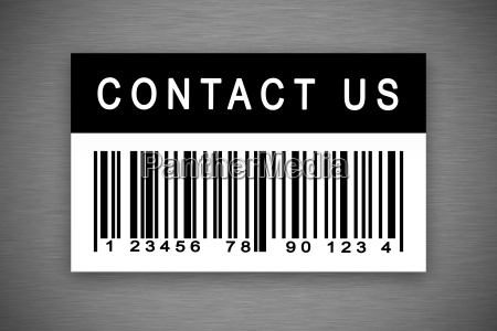 contact us barcode label