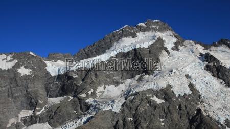 spitze zacke neuseeland gletscher gebirge berg