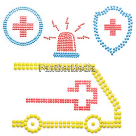 krankenwagen mit pillen