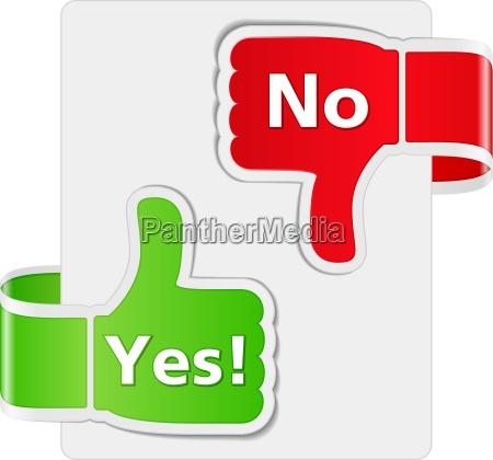 ja und nein zeichen