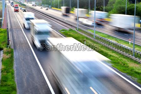 vierspurige, autobahn, in, polen - 17316510
