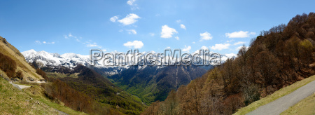 panorama of mountain landscape in the