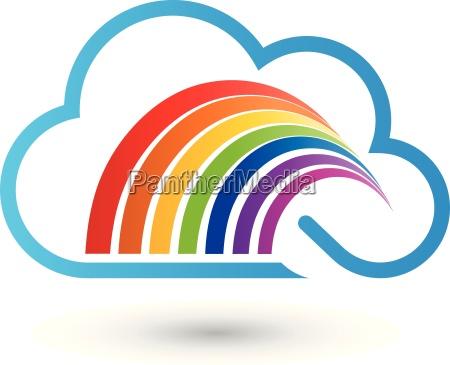 wolke und regenbogen maler logo