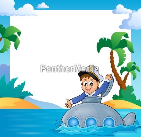 frame with sailor on submarine