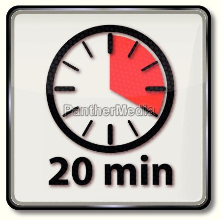 uhr mit 20 minuten