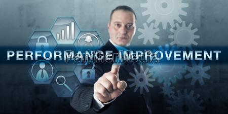geschaeftsfuehrer pushing performance improvement