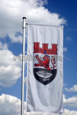 flagge der stadt hueckeswagen