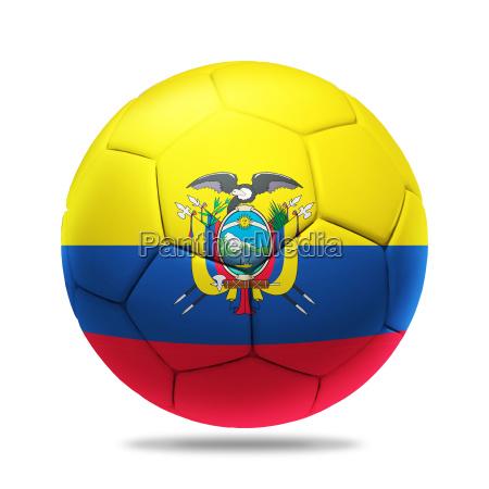 3d soccer ball with ecuador team