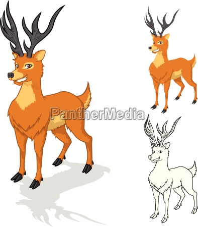 high quality deer cartoon character include