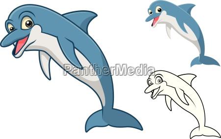 delphin zeichentrickfilm figur der hohen qualitaet