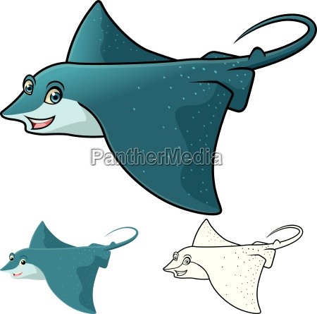 high quality eagle ray cartoon character
