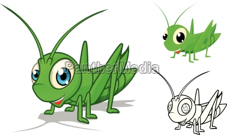 kunst insekt grashuepfer heuschrecke umriss kontur