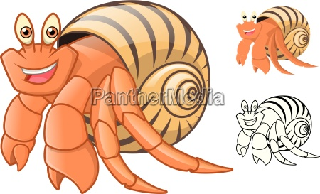 high quality hermit crab cartoon character