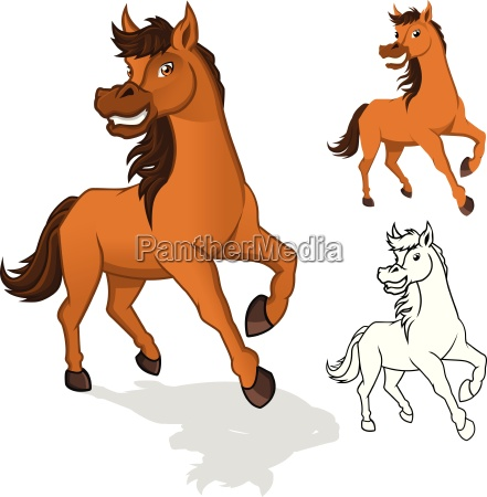 high quality horse cartoon character include
