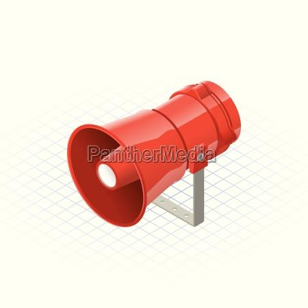 isometrischer lautsprecher alarm horn sounder eine