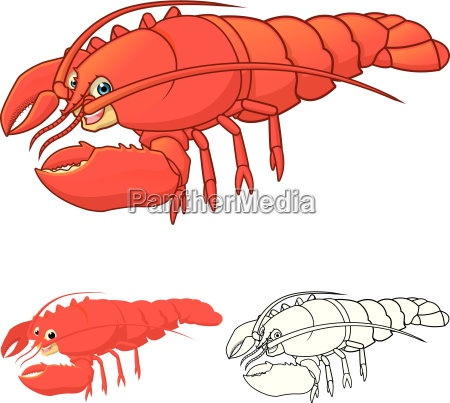 high quality lobster cartoon character include
