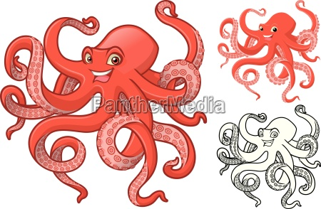 high quality octopus cartoon character include