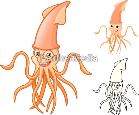 high quality squid cartoon character include