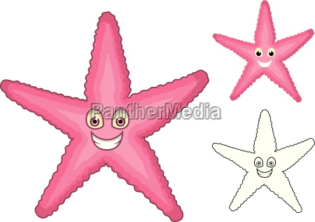 high quality starfish cartoon character include