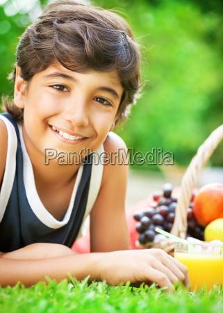 happy boy portrait