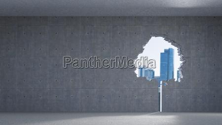 3d rendering window in tree shape