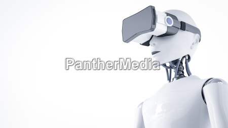 3d rendering roboter mit virtual reality