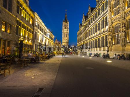 belgium ghent belfry and city hall