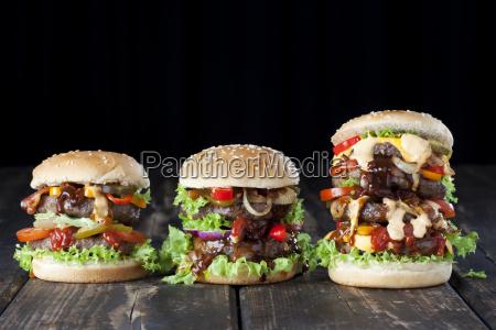 drei doppel burger