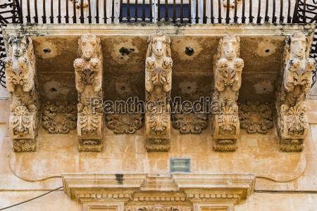 italy sicily noto palazzo villadorata balcony