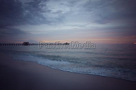 usa florida naples pier at sunset