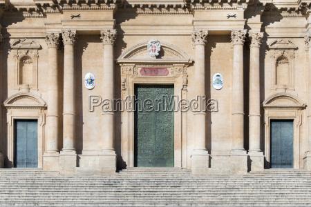 italy sicily noto noto cathedral entrances
