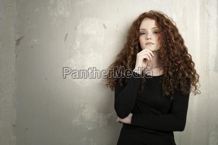 portrait of redheaded teenage girl