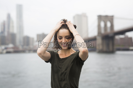 usa new york city smiling young