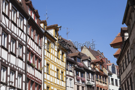 germany bavaria nuremberg gable houses half