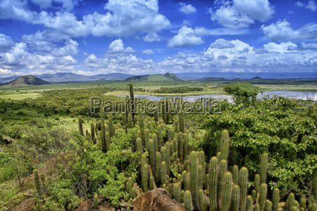 kenia rift valley province blick auf