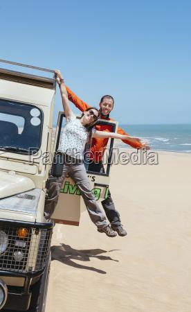 namibia namib desert swakopmund happy couple