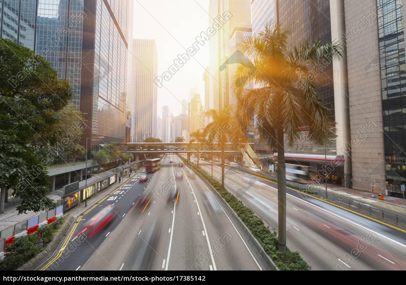 china, hong, kong, traffic, in, central, hong, kong - 17385142