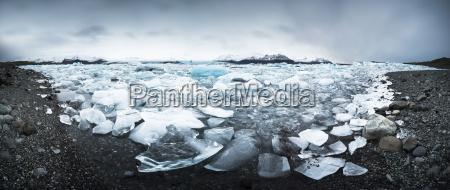 iceland vatnajoekull national park panoramic shot