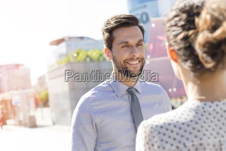 poland warsaw portrait of smiling businessman