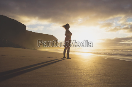 spain fuerteventura woman standing on the