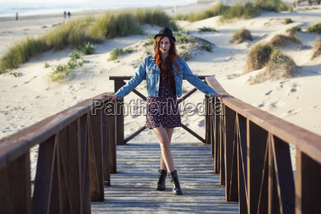 spain cadiz portrait of young redheaded
