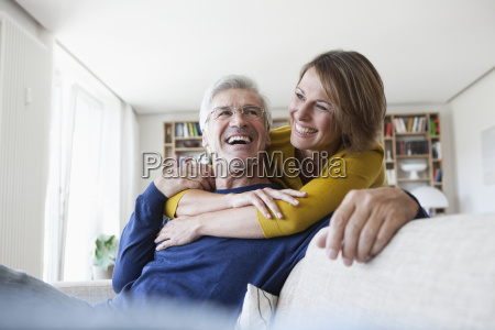 portrait of laughing couple in the