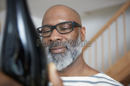 portrait of smiling man looking at